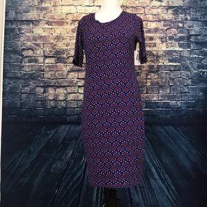 LuLaRoe Blue Printed Maxi Dress Size 16